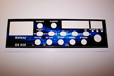 Galaxy DX 959 Face Plate Decal CB Radio any Design/Color Uniden Cobra Connex