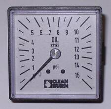 OIL GAUGE 32178 CLEAN BURN WASTE OIL FURNACE SQUARE GAUGE ENERGYLOGIC