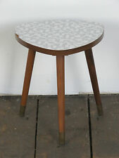 Retro Kidney Table, Plant Pot Stand Stool 1950s 50s Mid Century Vintage 60s 70s