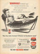1956 vintage AD Chase & Sanborn Instant Coffee Whitney Darrow Cartoon Art 012116