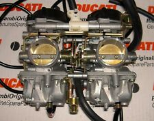 1991-era Ducati 900SS Monster 13140201A PAIR of 38MM Mikuni carburetors complete