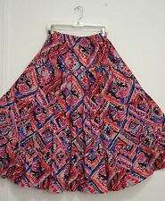 4 Tiered Colorful SOUTHWEST 100% Cotton WESTERN Peasant Broomstick Skirt 1X
