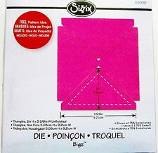 """Triangles 2"""" H x 3 5/8"""" W Unfinished Quilting Shape Sizzix Bigz Die 659151 NEW!"""
