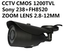 CCTV Sony 1200TVL CMOS CCTV Camera IR CUT Zoom Lens 2.8-12MM Outdoor Waterproof
