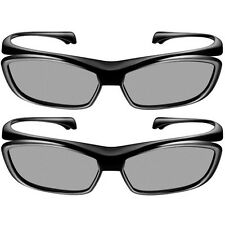 Pack of 2 New Official Panasonic Viera Passive 3D Glasses Eyewear TY-EP3D10UB US