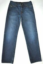 "Just Cavalli Men's Dk Med Blue Button Fly Jeans Measurements: W31"" L33"" Italy"