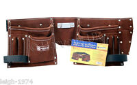10 X DIY Trade Carpenter Builder Site Quality Adjustable Leather Tool Belt Pouch