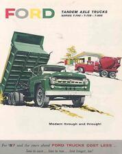 1957 Ford Tandem Axle Truck Sales Brochure wd4596-1F64O3