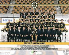 2012-2013 BOSTON BRUINS STANLEY CUP 8X10 TEAM PHOTO PAILLE BERGERON KAREJCI RASK