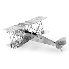 Fascinations Metal Earth 3D Laser Cut Steel Model Kit De Havilland Tiger Moth