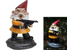 Angry Little Garden Gnome Scarface Machine Gun Yard Decor Figure Prop Novelty