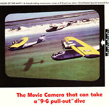 "1943 WWII Ad ~ CINE-KODAK films a 9-G pullout in film ""Eagles of the Navy"""