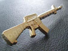 M16 Gun Badge (Gold)