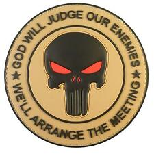 GOD WILL JUDGE OUR ENEMIES PVC desert mud morale DEVGRU punisher hook patch