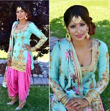 Heavy Frozi Designer Punjabi Patiala Indian Embroidery party wear SALWAR suit