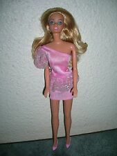 barbie blonde robe rose ancienne collection Mattel