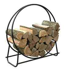 Firewood Storage Rack Log Holder Outdoor Steel Wood Bin Metal Round Circular New
