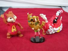 LOT OF 3 TOYS CAT IN THE HAT SCOOBY DOO ALVIN AND THE CHIPMUNKS