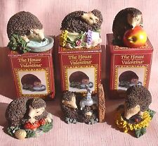 6 MINIATURE HEDGEHOGS fron The Harvest Hamlet Collection New & Boxed
