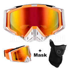 Orange Moto Motocross ATV Off Road Goggles Eyewear Sport Glasses Avec Masque