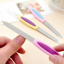 2 PCS 2 IN1 METAL NAIL FILE & CUTICLE REMOVER TRIMMER BUFFER CUTE  PROFESSIONAL
