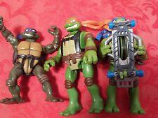 Teenage mutant ninja turtle tmnt mini action figure lot of 3