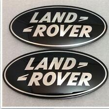 NEW LAND ROVER DISCOVERY 3 SUPERCHARGED GRILL & BOOT BADGE OVAL BLACK-SILVER