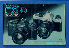 Yashica FX-D originale Bed-anleitung , operating instructions