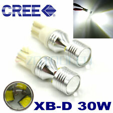 2 x W5W T10 501 30W CREE PROJECTOR LED PARKING CAR SIDELIGHT XENON WHITE BULBS