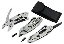 5 in 1 pocket belt multi-tool kit knife pliers wrench screwdriver camping DIY