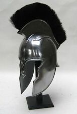 "ACHILLIS TROY HELEMT WITH BLACK PLUME 17"" ~  MEDIEVAL COSTUME - ARMOR - HELMET"