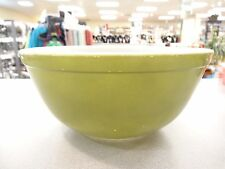 Vintage Pyrex Primary Colors OLIVE GREEN Nesting Mixing Bowl,  #403   2.5 QT USA