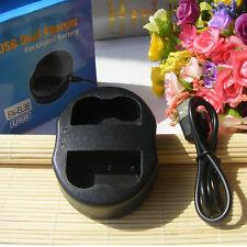 USB Dual Battery Charger For Nikon D70S/D80S/D90/D300/D700 EN-EL3e EN-EL3a
