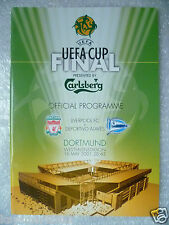 2001 UEFA Cup Final Programme LIVERPOOL v DEPORTIVO ALAVES, 16 May (Org*)