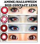 Rot Farbige Kontaktlinsen Kosmetik Funlinsen Red Color Contact Lenses Halloween