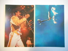 ╬ Port Gratuit ╬ LOT DE 2 CARTES POSTALES : QUEEN / FREDDIE MERCURY ♫♫ Card Lot