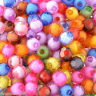 "300 Mixed Round Faceted Acrylic Spacer Beads 8mm(3/8"") Dia."