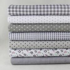 """Home Décor 7 Assorted Pre Cut Charm 10"""" Squares Quilt DIY Cotton Fabric"""