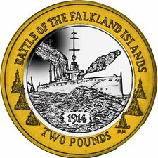 The 2014 Centenary of the Battle of Falkland �2 Bi-Metal Coin