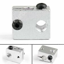 5x V6 Aluminio Heater Block Para 3D Impresora Heating Block Extrusora Hot End