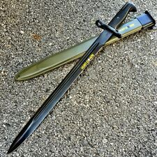 "20.5"" BLACK M1 1943 OL US RIFLE BAYONET W/GREEN SHEATH Dagger Knife Hunting WWII"