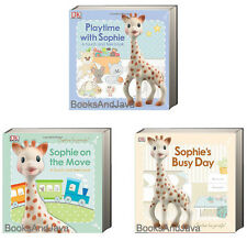 SOPHIE the GIRAFFE 3pk Playtime with Sophie,Sohie on the Move & Sophies Busy Day