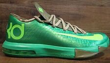 NIKE MENS KD KEVIN DURANT 6 FLASH LIME BAMBOO BASKETBALL SHOES 599424 301 SZ 8