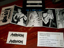 2 CASSETTE LOT Aversion 1st rare 88 METAL DEMO TAPE &  Fit To Be Tied