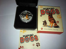 2011 $1 Working Dogs German Shepherd 1oz Silver Proof Coin Certificate Number:78