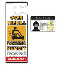 Over the Hill License / Parking Permit - Custom Novelty ID for ages 40, 50, 60