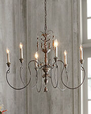 Horchow French Restoration Vintage Exquisite Copper 6 Light Chandelier $450