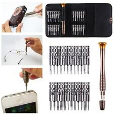 25 PC SMALL MINI PRECISION SCREWDRIVER SET FOR WATCH JEWELRY ELECTRONIC REPAIR