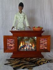 "AllforDoll OOAK DIORAMA 1:4 scale Furniture FIREPLACE for 16"" Tonner Gene Dolls"