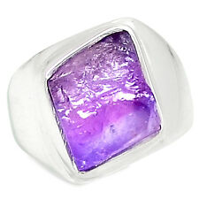 Amethyst Rough 925 Sterling Silver Ring Jewelry s.7 AMRR119